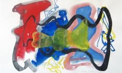 animal form 03, 2000, Aquarell, 50 x 70 cm
