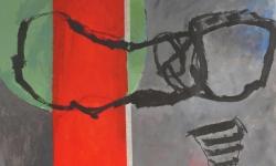 1 acrobatique, 2006, Acryl/Kreide auf Papier / Assemblage, 190 x 100 cm