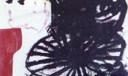 2 argerich, 2006, Acryl auf Papier, 170 x 100 cm