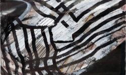7 polyphonia, 2006, Acryl/Tuschestift, 40 x 50 cm