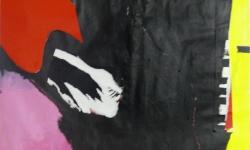 3 pathétique, 2006, Acryl auf Papier / Collage, Décollage, 190 x 100 cm
