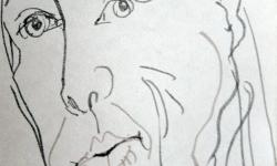 2 bellezza mattutina 8h a.m,, 2007, Tuschestift auf Papier, 20 x 15 cm