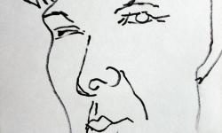 3 bellezza mezzogiornata, 2007, Tuschestift auf Papier, 20 x 15 cm