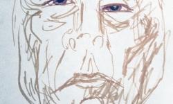 5 bellezza notturna 11h p.m., 2006, Tuschestift auf Papier, 20 x 15 cm