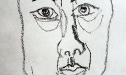 1 bellezza mattutina 7h a.m., 2006, Ölkreide auf Papier, 20 x 15 cm