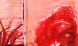 beste freundin 3, 2000, Acryl auf Papier, 42 x 36 cm