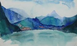 6 alpensee V, 50 x 70 cm, 1964