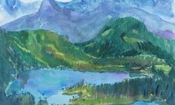 7 alpensee I, 50 x 70 cm, 1964