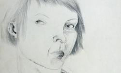 1 die neue seidenbluse, 1963, Bleistift auf Papier, 60 x 40 cm
