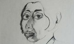 6 carmen, 1965, Bleistift auf Papier, 60 x 40 cm