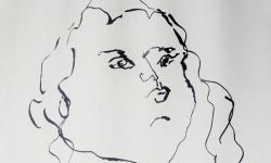 01 epikuraeer, 2018, Tuschestift auf grauem Papier, 30 x 30 cm (Ausschnitt)