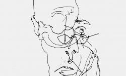 5 kulturpessimistisch denken, 2011, Filzstift auf Papier, 21 x 21 cm
