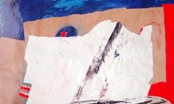 berlin II, 1993, Collage mit Ölkreide auf Karton, 70 x 50 cm