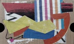 3 die marquise von O, 2011, Collage auf Wellpappe, 13 x 18 cm
