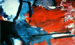 la battaglia, 1990, Acryl/Kreide auf Büttenkarton, 100 x 140 cm