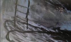 treppe zum paradies, Acryl auf Leinwand, 2003, 100 x 100 cm