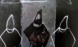 abu ghraib, Acryl auf Leinwand, 2003, 100 x 100 cm