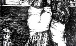 2 ein krach stieg auf bis zu den sternen, 1964, Lithografie auf Bütten, 53,5 x 38 cm.