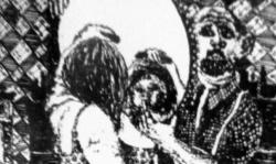 1 halt mir den spiegel, 1964, Lithografie auf Bütten, 53,5 x 38 cm