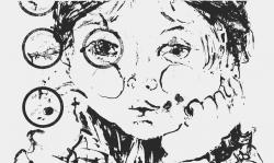 6 trauriges kind, 1965, Lithografie auf Bütten, 50 x 40 cm