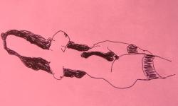 2 o.T., 2018, Zeichnung, Filzstift auf Papier, 29 x 21 cm
