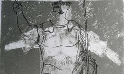 4 die putte, die augustus liebte, 1967, Farblithografie auf Bütten, 70 x 50 cm