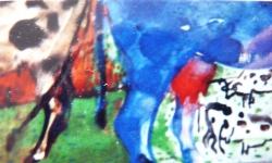 zahra + clarabellae, Werkgruppe GLÜCKLICHE RINDVIECHER, Osttirol 2002, Aquarell auf Papier