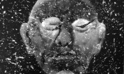 jandl 3: folter lidzieher, 2000, Acryl auf schwarz lackierter Hartfaser, 28 x 36 cm