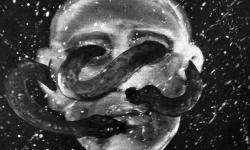jandl 4: folter durchwuchs, 2000, Acryl auf Hartfaser, 28 x 36 cm