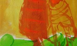 kazz: die unmögliche liebe, 2002, Acryl auf Leinwand, 24 x 18 cm