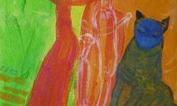 kazz: blues melancholie, 02, 2002, Acryl auf Leinwand, 24 x 18 cm
