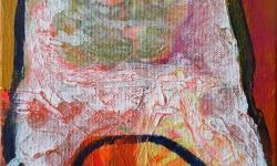 kazz: gefräßigkeit, 2000, Acryl auf Leinwand, 24 x 18 cm