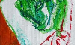 kazz: bouleversé, 1999, Acryl auf Leinwand, 24 x 18 cm