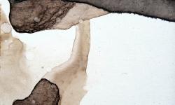 10 staunen und schweben, 2008, Beize auf Karton, 17 x 23 cm