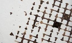 mister klecks in der kletterwand, 2013, Tusche auf Pappe, 9 x 9 cm
