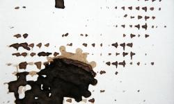 mister klecks mit seinen enkeln, 2013, Tusche auf Pappe, 9 x 12 cm