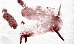 brünnhilde, 2013, Aquarell auf Bütten, 12 x 12 cm