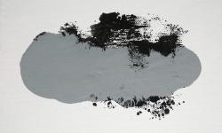 04 nebelschauplatz 4, 2013_Monotypie, Druckfarbe auf Leinwand, 18 x 24 cm