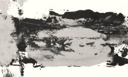 10 garzweiler I, 2013, Druckfarbe auf Leinwand, 20 x 50 cm
