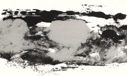 11 garzweiler II, 2013, Druckfarbe auf Leinwand, 20 x 50 cm