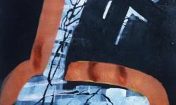 4 schatzsuche, 2015, Pigmentfarbe auf Buetten, 33 x 25 cm