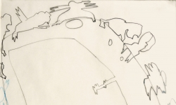 7 aus edlem hause bin ich wohl wahr, 2000, Zeichnung. Bleistift, Buntstift auf Transparentpapier, 40 x 29 cm