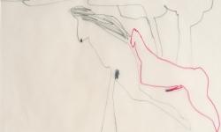 1 so verschone mich doch, o nastagio!, 1998, Zeichnung. Bleistift, Buntstift auf Transparentpapier, 40 x 29 cm