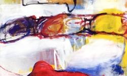 metamorphosen eines wurms, 1997, Acryl auf Leinwand, 150 x 150 cm