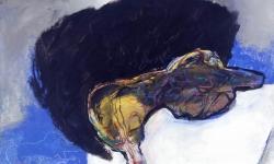 neitmär, 1997, Acryl auf Karton, 120 x 140 cm