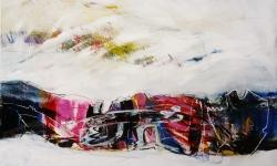 tag und traum, 1995, Acryl auf Büttenkarton, 100 x 140 cm