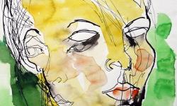 04 kassandra, 2007, Aquarell auf Papier, 40 x 30 cm (Ausschnitt)