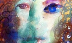 05 blauauge, 2004, Aquarell auf Papier, 40 x 30 cm (Ausschnitt)