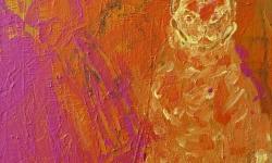 die hochmütige, 2001, Acryl auf Leinwand, 24 x 18 cm