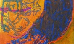 schulschwänzen, 2001, Acryl auf Leinwand, 24 x 18 cm